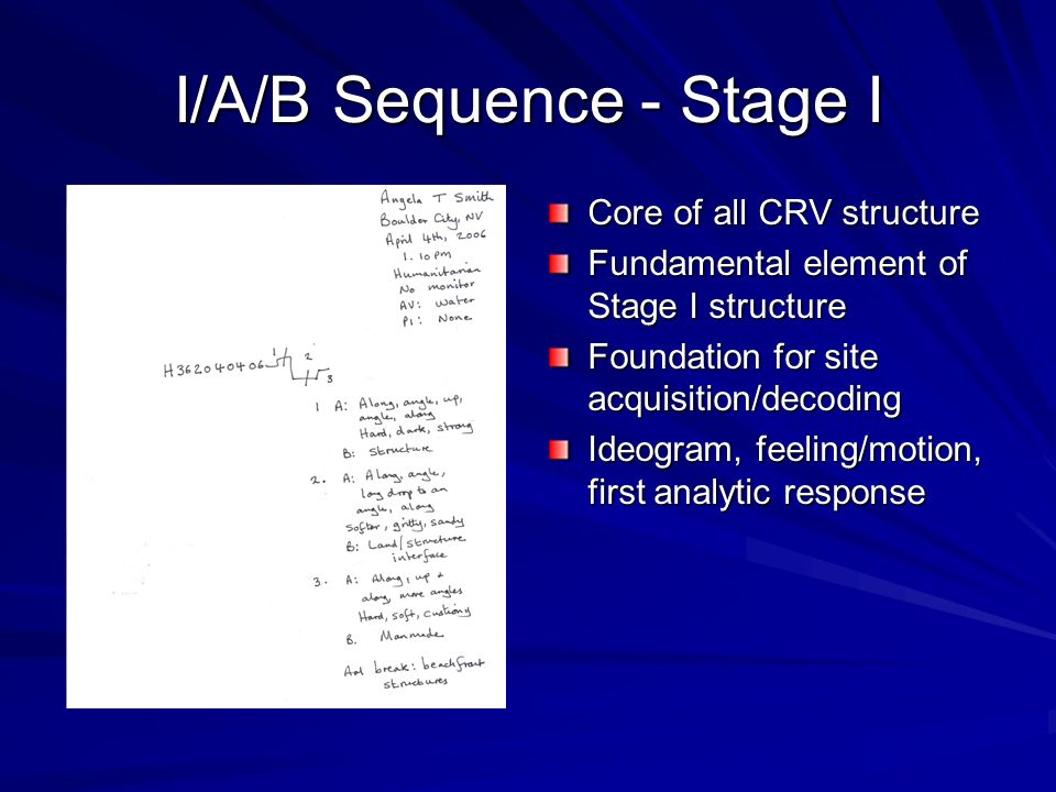 I/A/B Sequence - Stage I