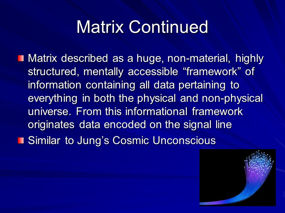 Matrix Continued