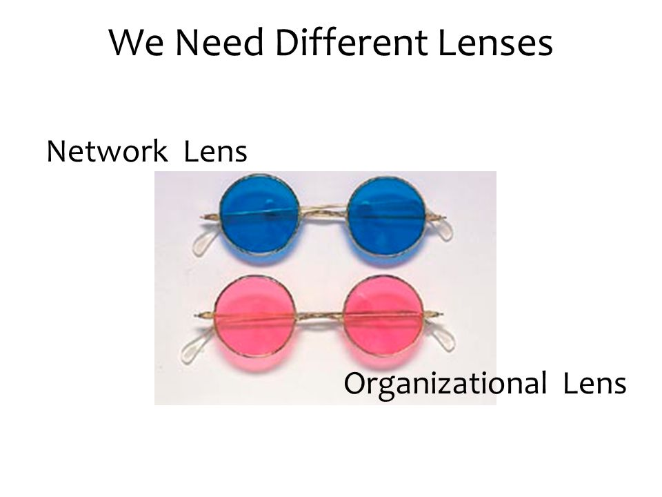 We Need Different Lenses