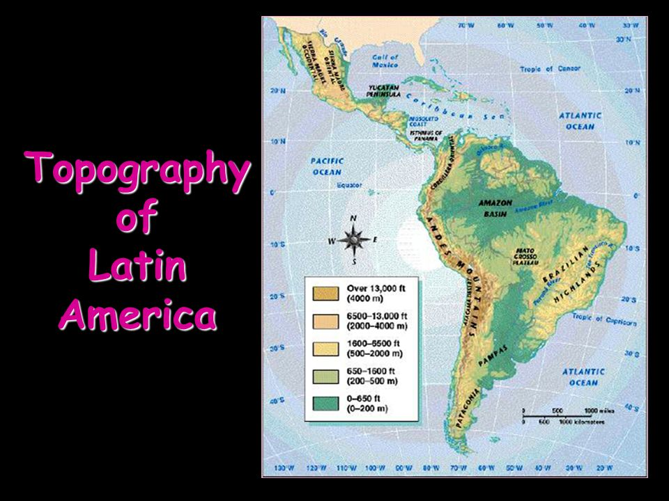 Topography of Latin America