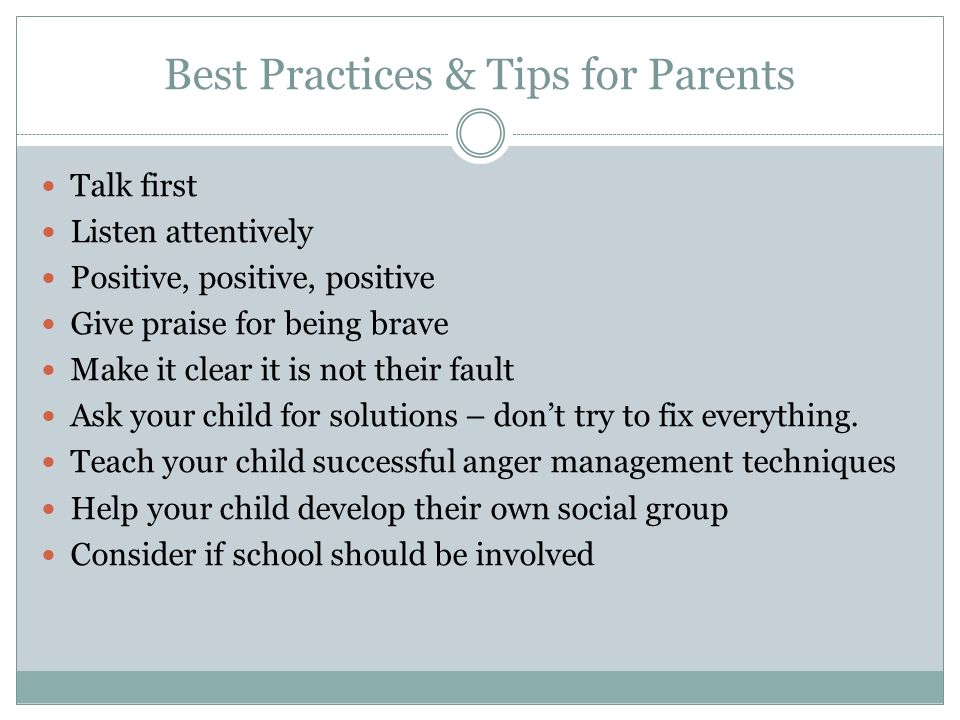 Best Practices & Tips for Parents