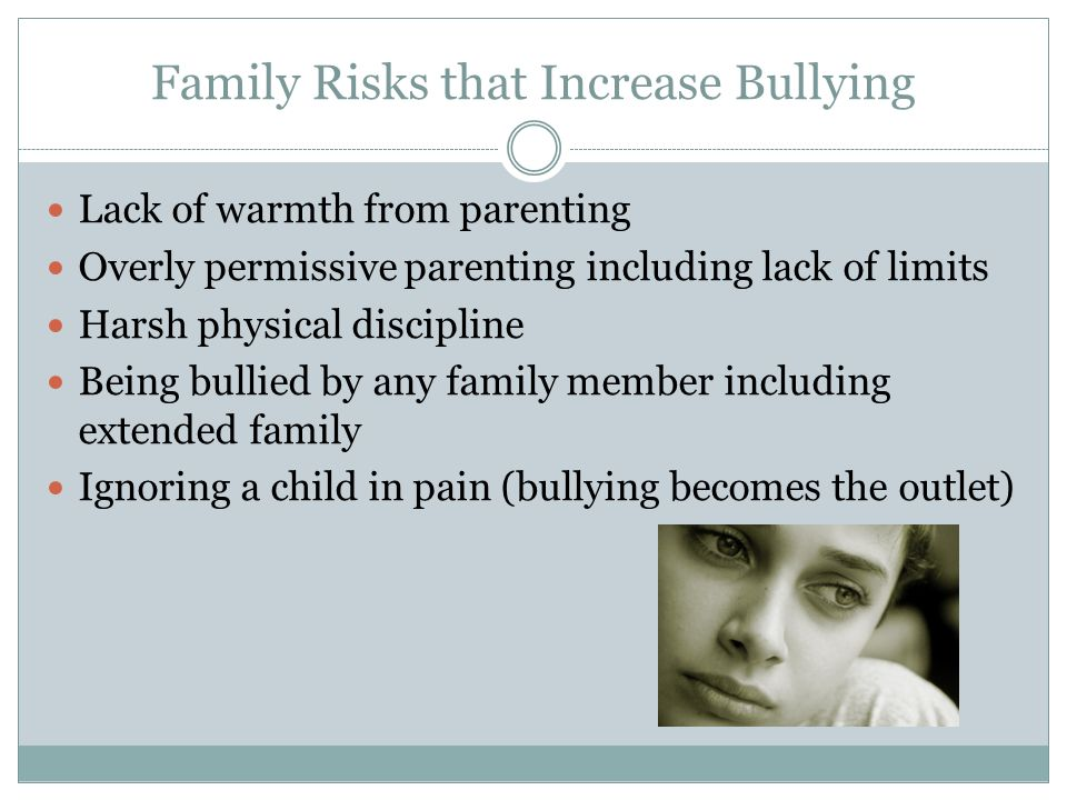 Family Risks that Increase Bullying