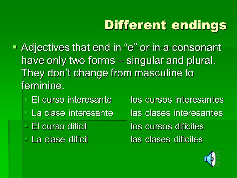 Different endings