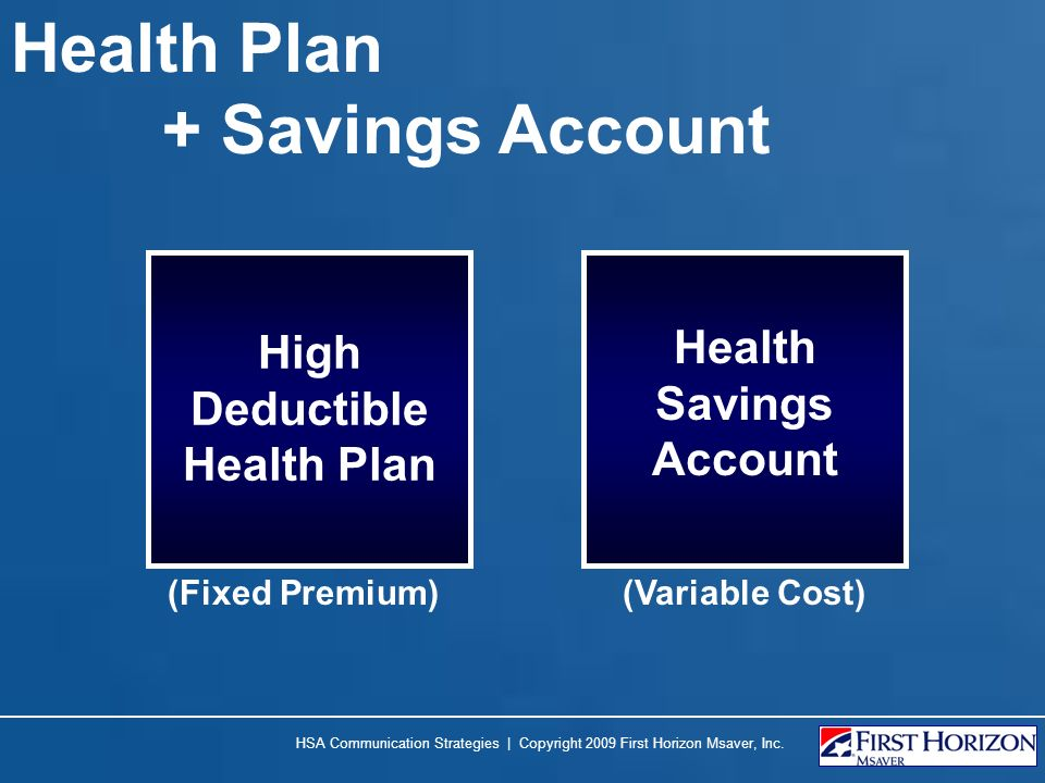 High Deductible Health Plan Health Savings Account