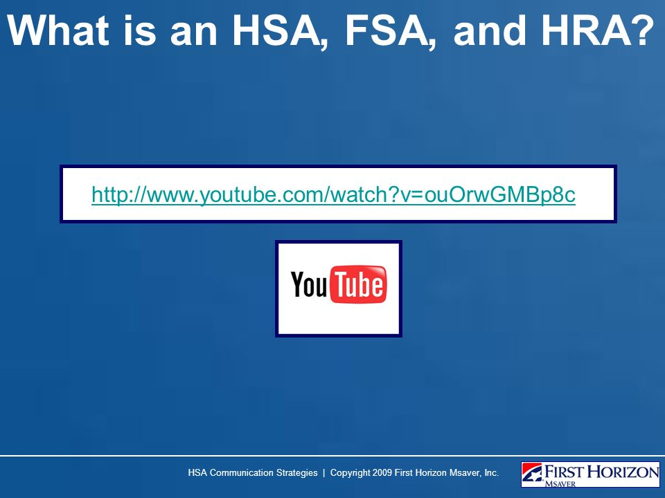 What is an HSA, FSA, and HRA