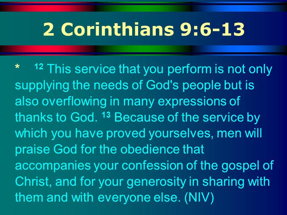 2 Corinthians 9:6-13