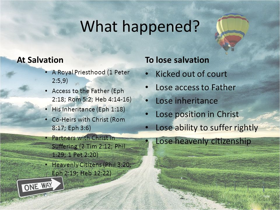 What happened At Salvation To lose salvation Kicked out of court
