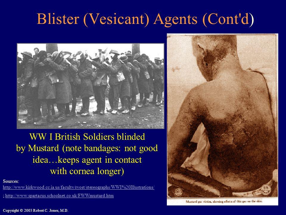 Blister (Vesicant) Agents (Cont d)