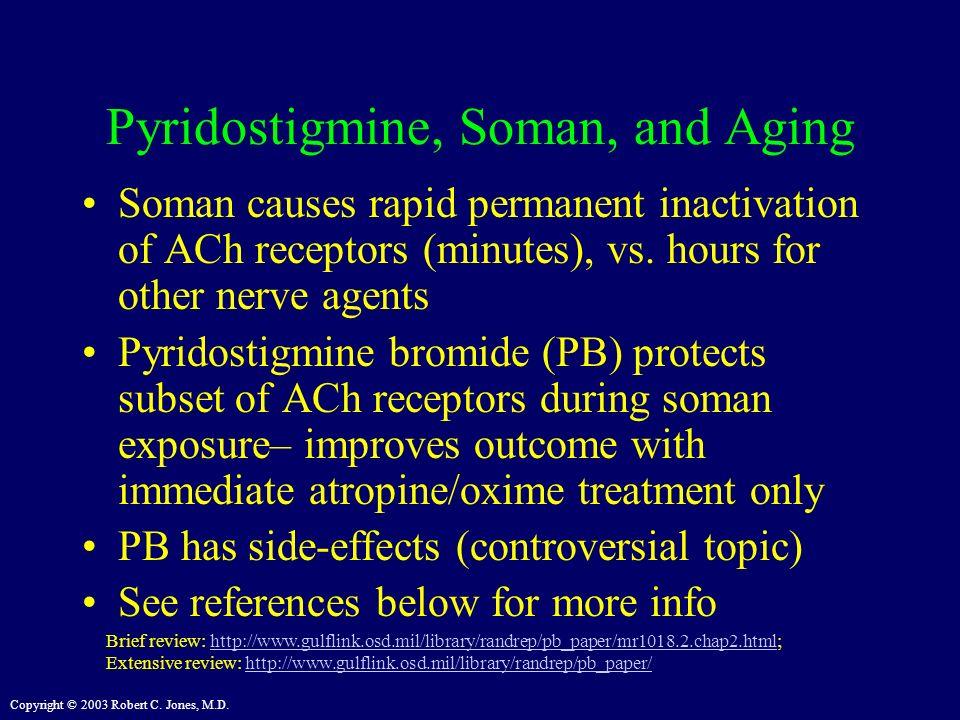 Pyridostigmine, Soman, and Aging