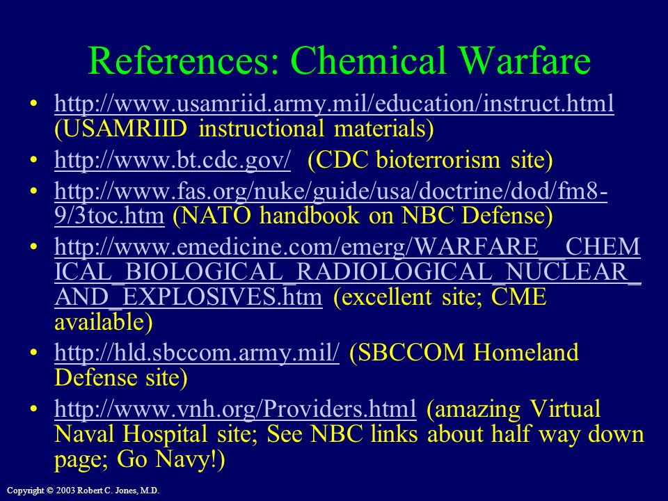 References: Chemical Warfare