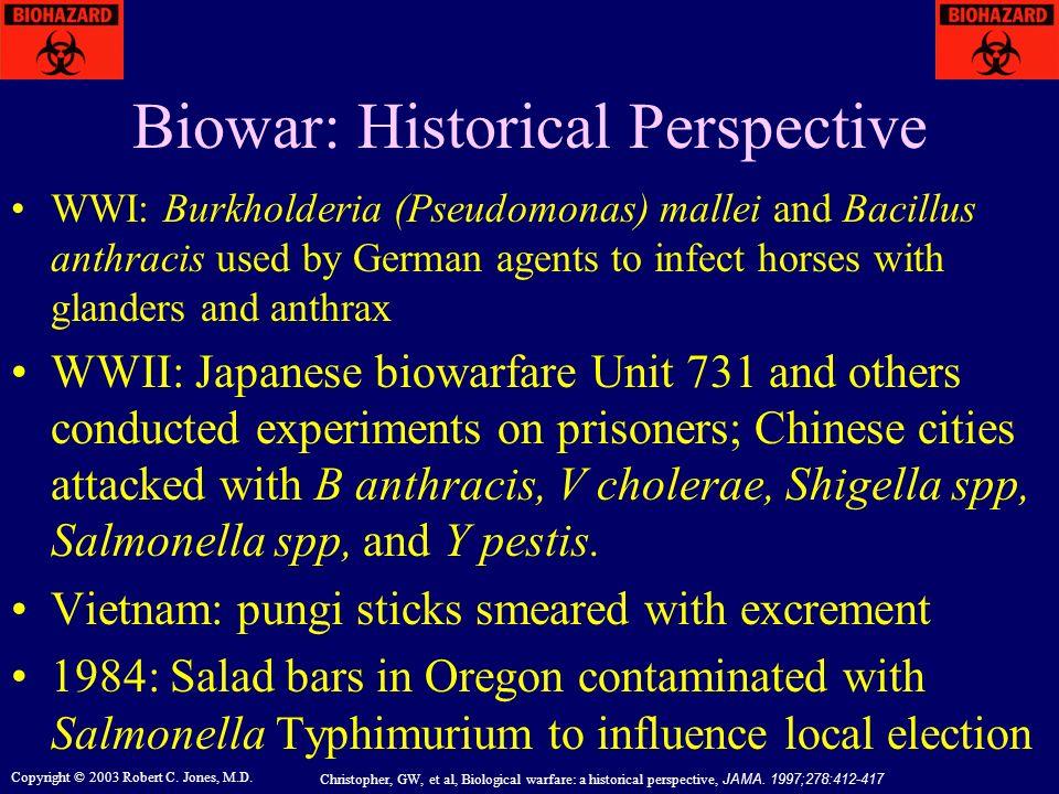 Biowar: Historical Perspective