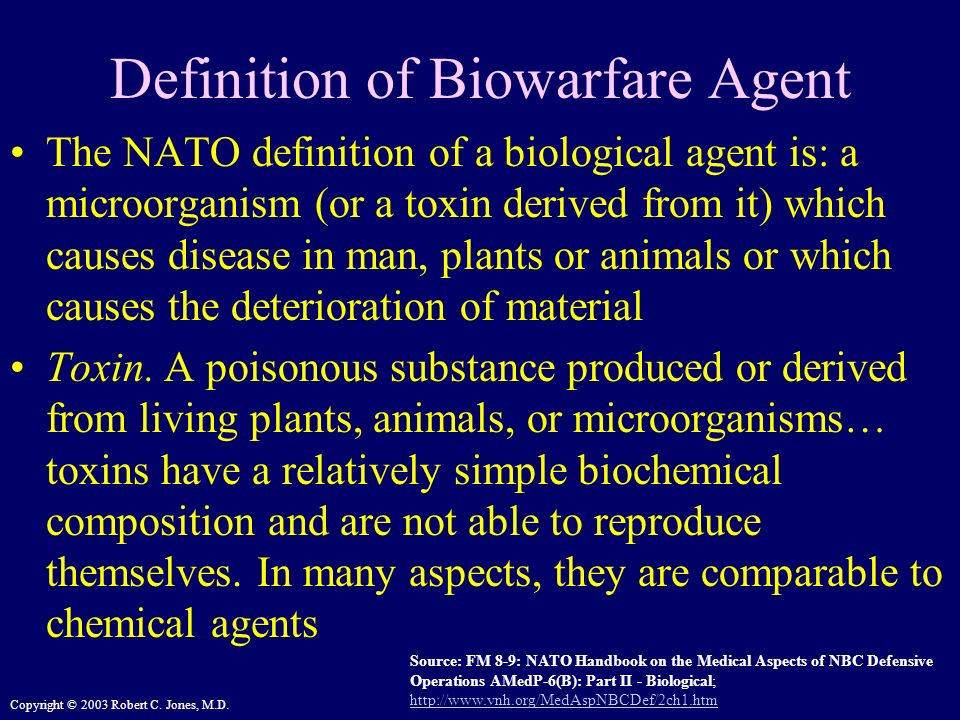 Definition of Biowarfare Agent