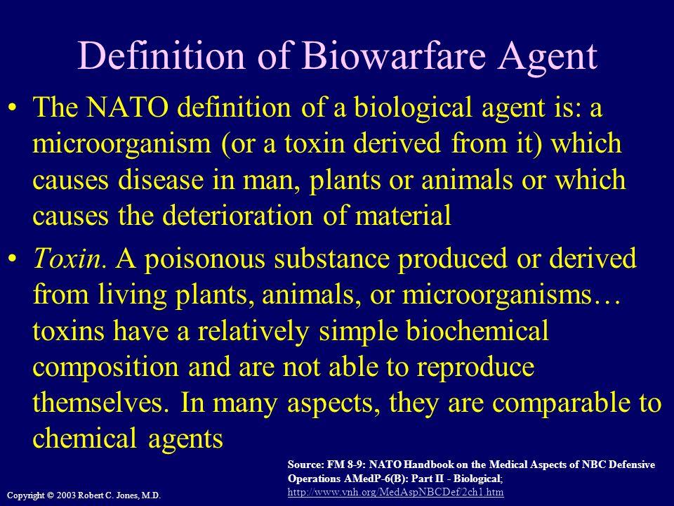 Definition of Biowarfare Agent