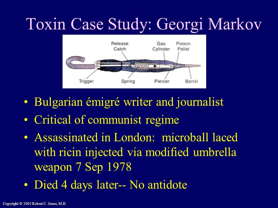 Toxin Case Study: Georgi Markov
