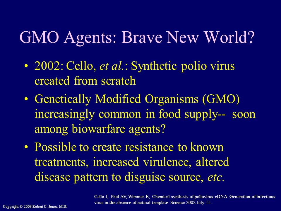 GMO Agents: Brave New World