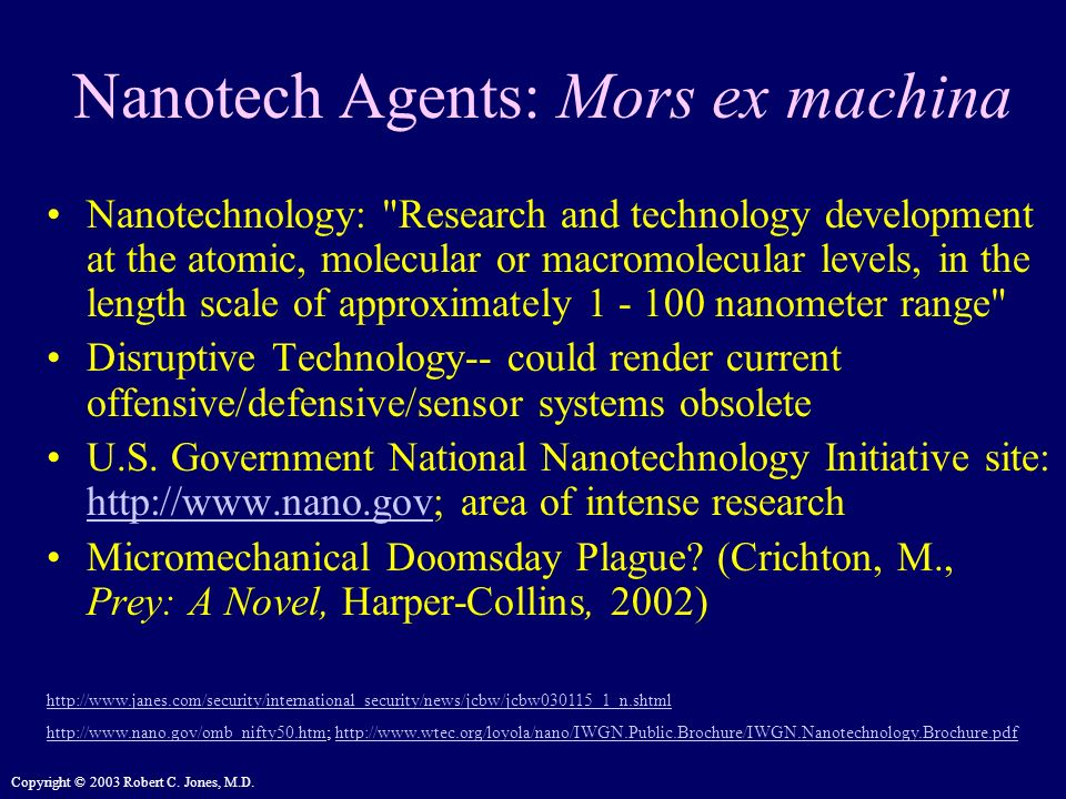 Nanotech Agents: Mors ex machina