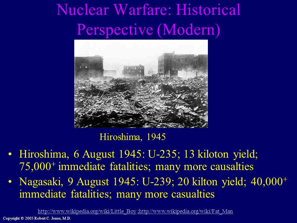 Nuclear Warfare: Historical Perspective (Modern)