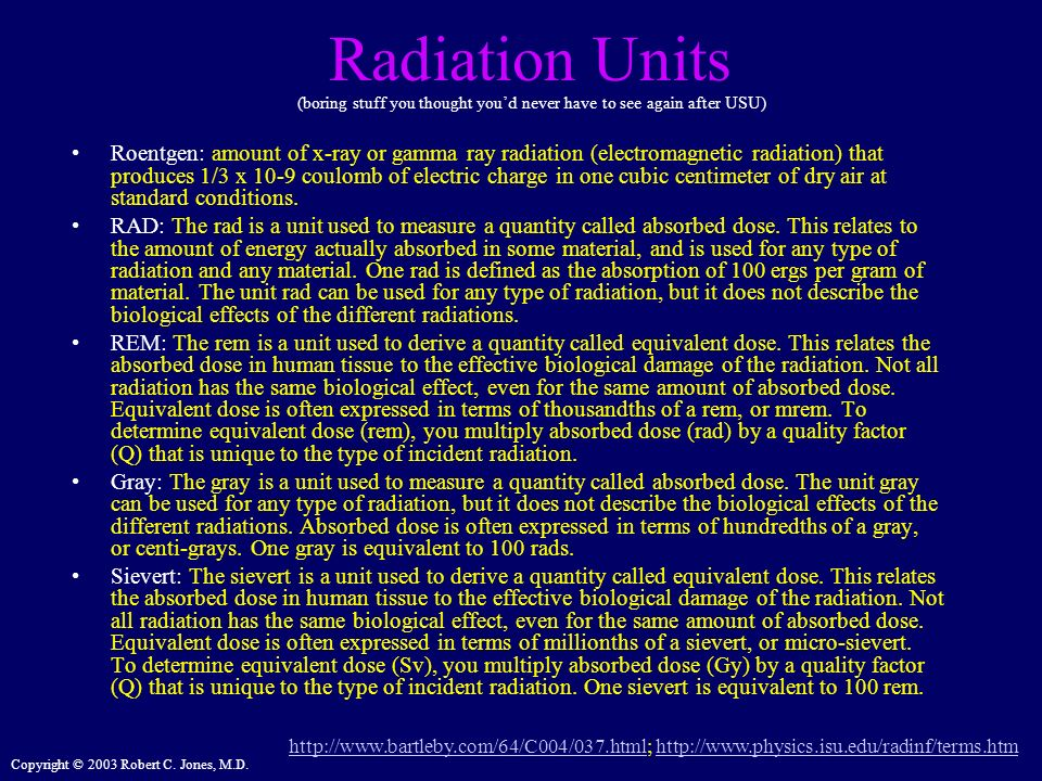 Radiation Units (boring stuff you thought you'd never have to see again after USU)