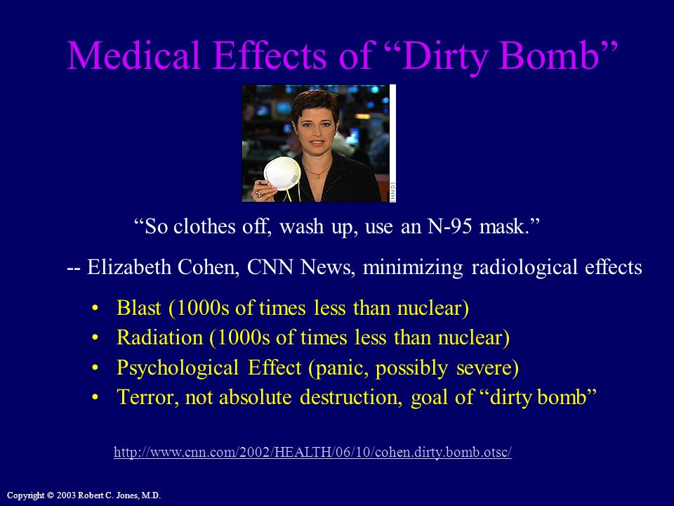 Medical Effects of Dirty Bomb