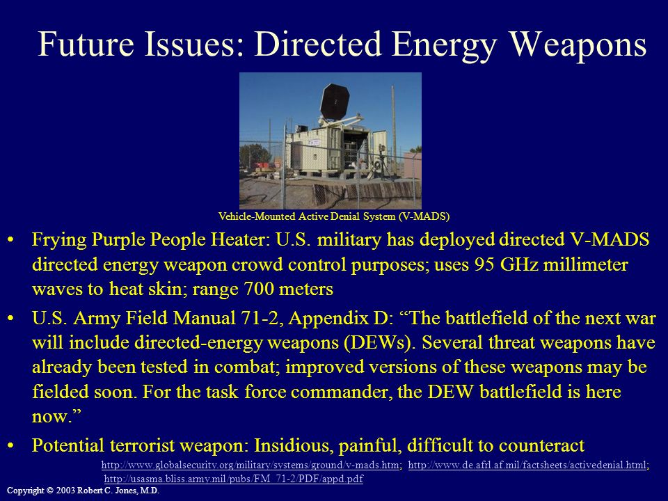 Future Issues: Directed Energy Weapons