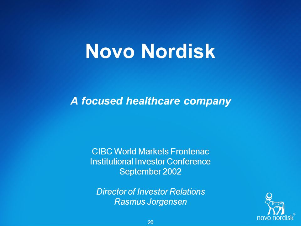 Investor Information Investor Relations contacts: Novo Nordisk A/S Investor Relations Novo Allé DK2880 Bagsværd Denmark.