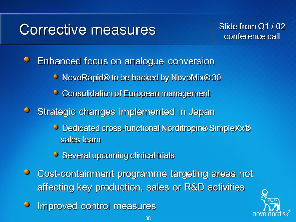 Slide from 22 July conference call
