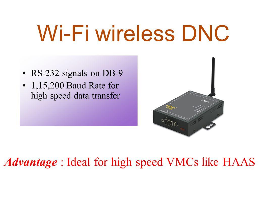 Wi-Fi wireless DNC RS-232 signals on DB-9