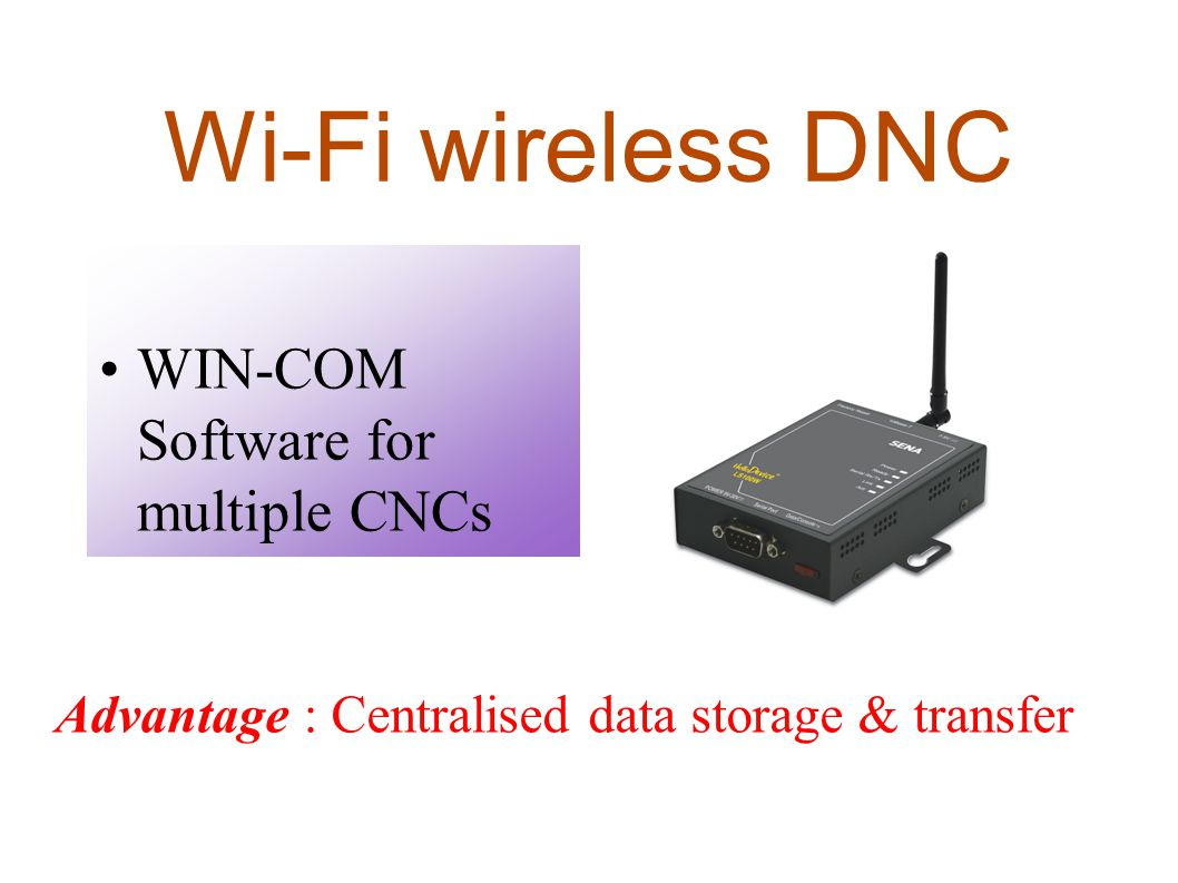 Wi-Fi wireless DNC WIN-COM Software for multiple CNCs