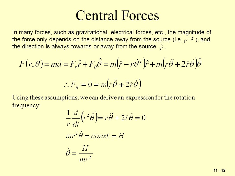 Central Forces