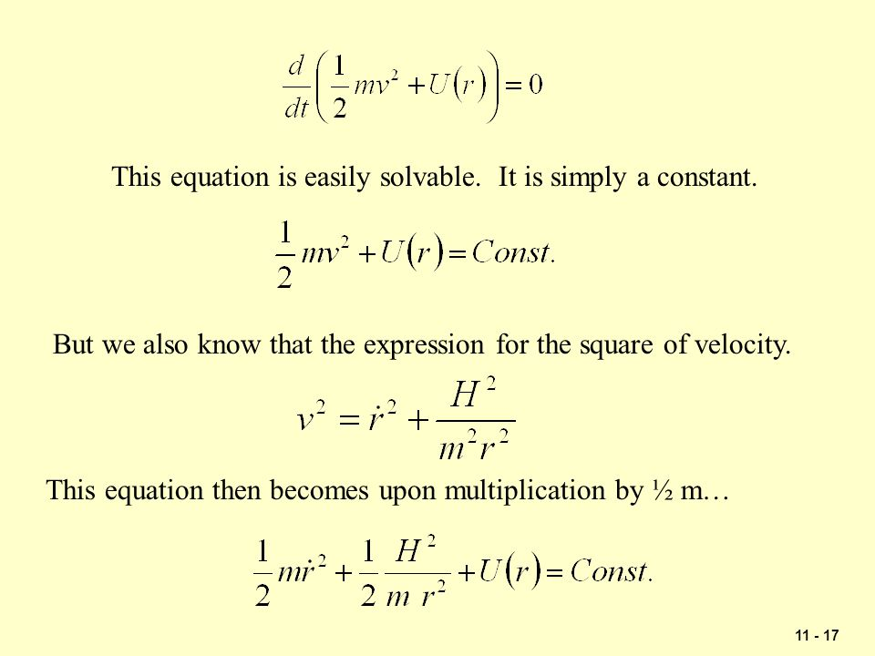 This equation is easily solvable. It is simply a constant.