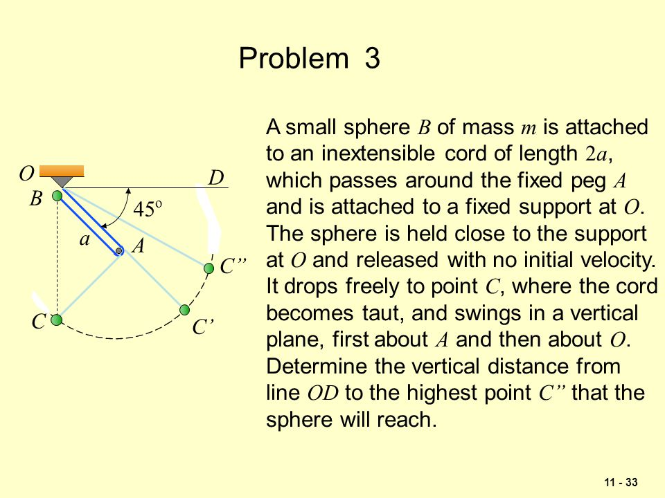 Problem 3 A small sphere B of mass m is attached