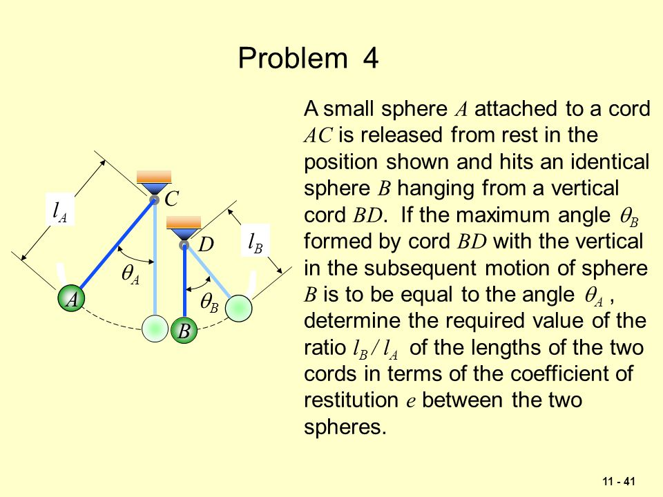 Problem 4 A small sphere A attached to a cord