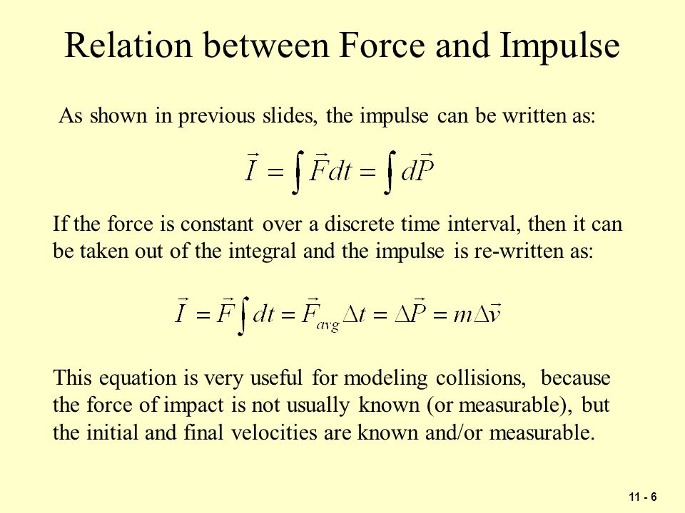 Relation between Force and Impulse