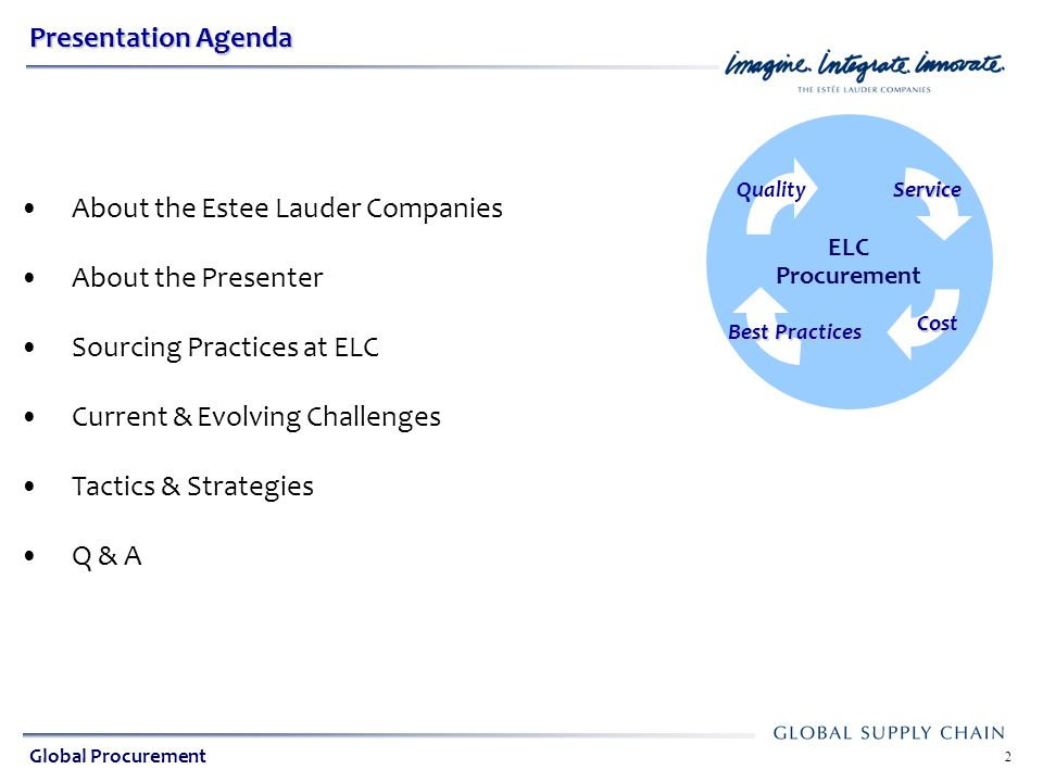 About the Estee Lauder Companies About the Presenter