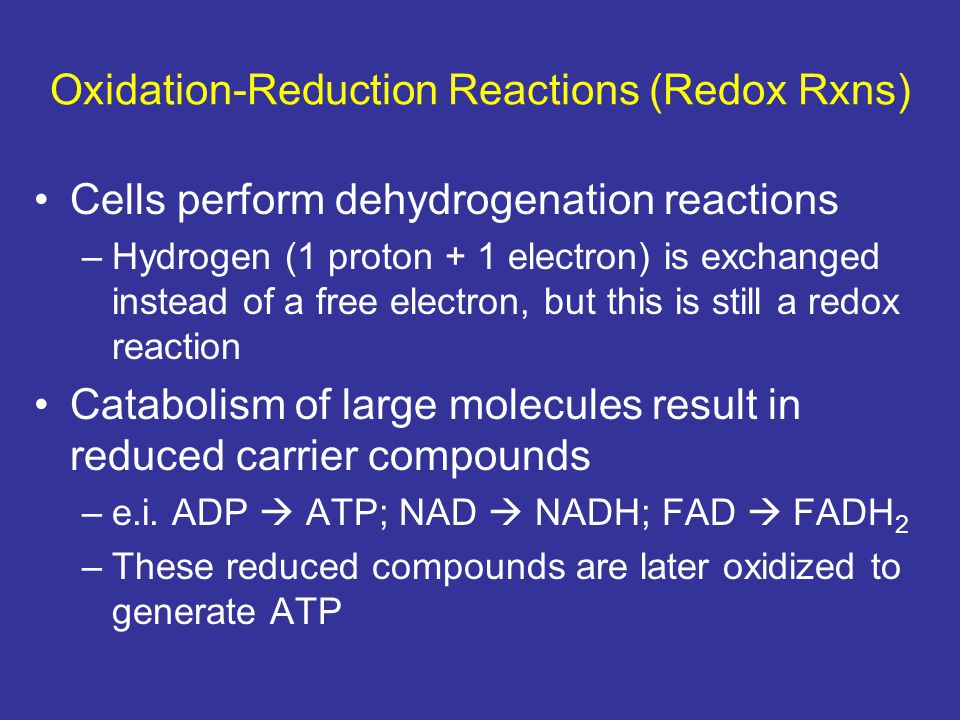 Oxidation-Reduction Reactions (Redox Rxns)
