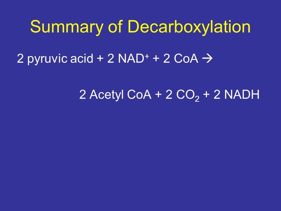 Summary of Decarboxylation