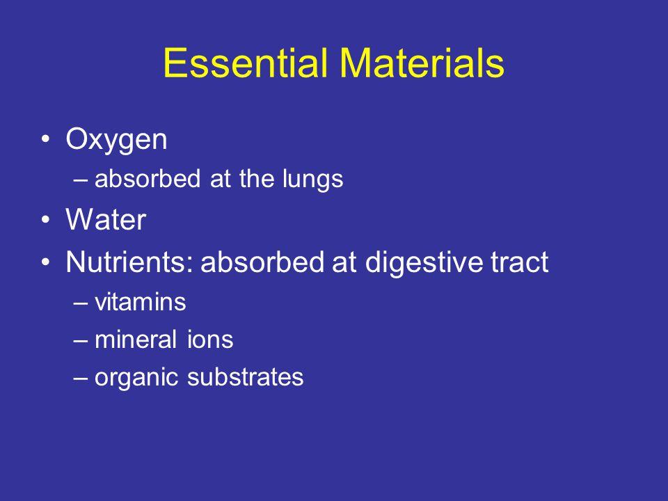 Essential Materials Oxygen Water