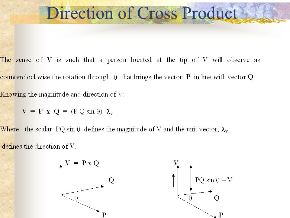 Direction of Cross Product