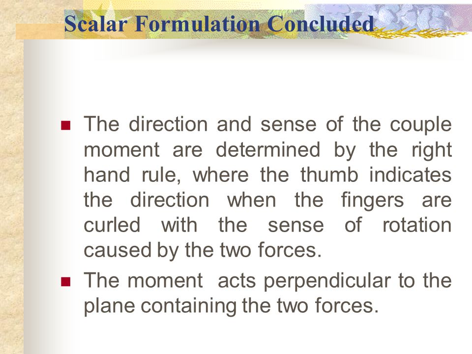 Scalar Formulation Concluded