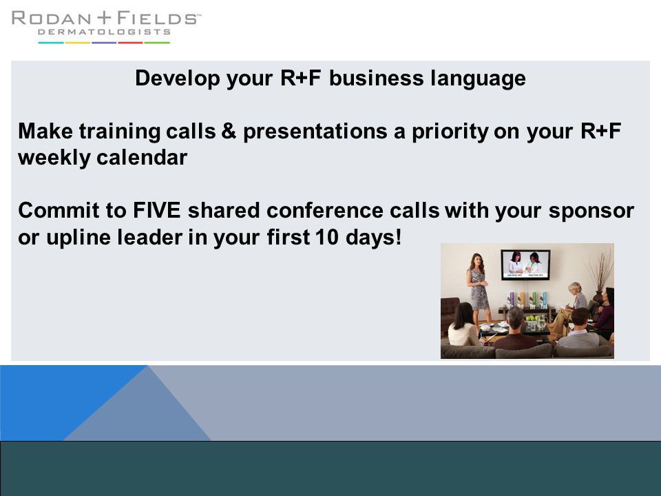 Develop your R+F business language