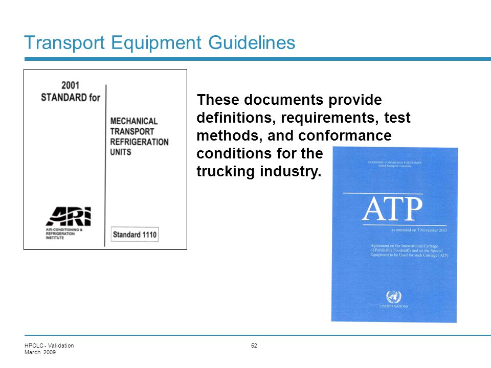 Transport Equipment Guidelines