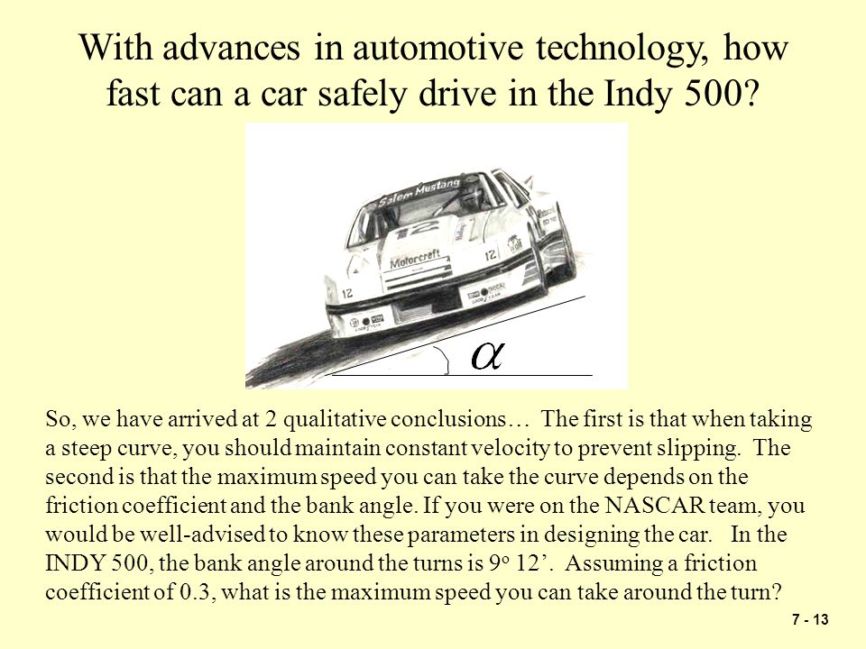 With advances in automotive technology, how fast can a car safely drive in the Indy 500
