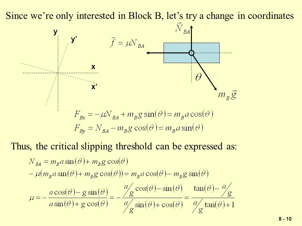 Thus, the critical slipping threshold can be expressed as: