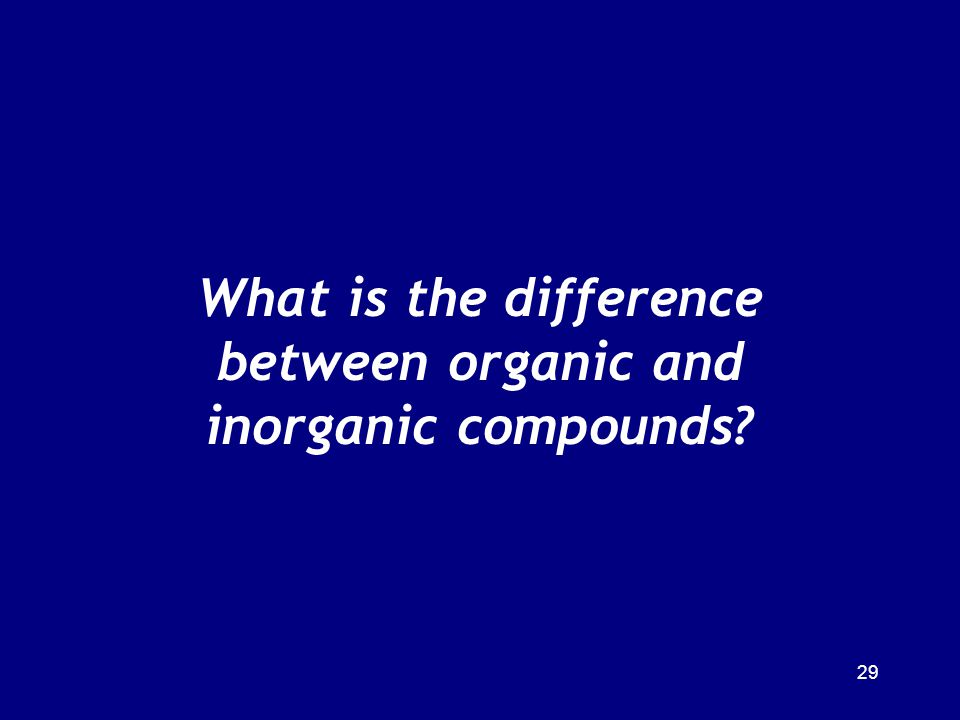 What is the difference between organic and inorganic compounds