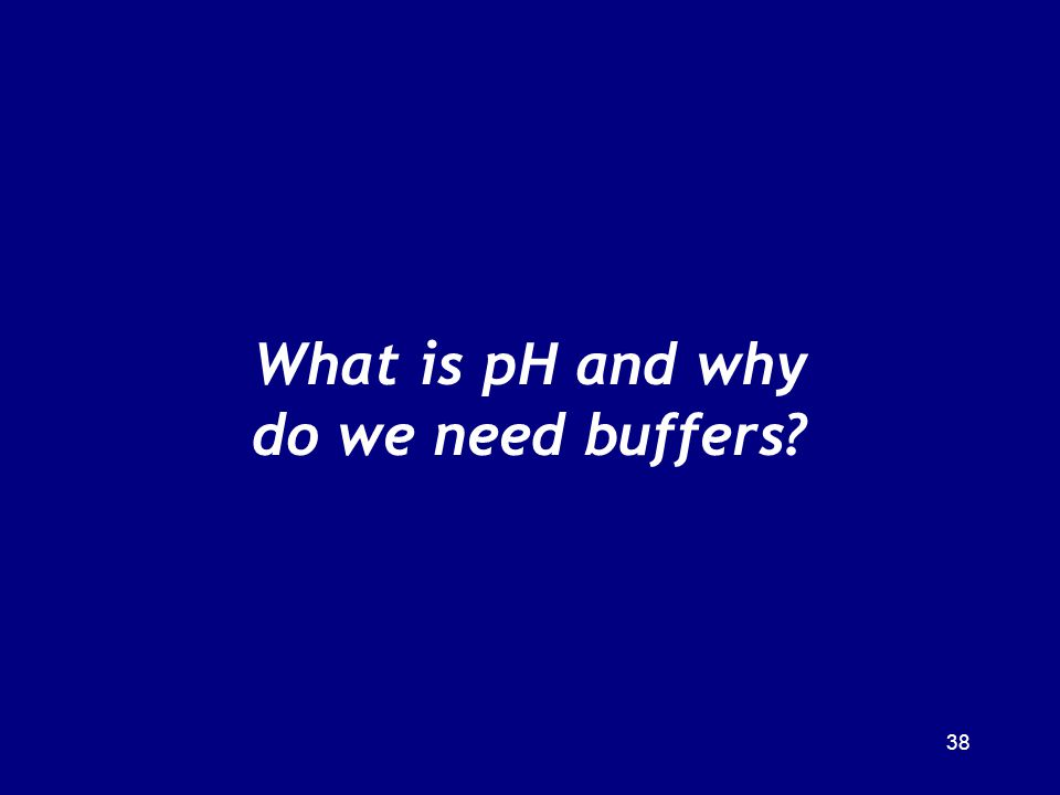 What is pH and why do we need buffers