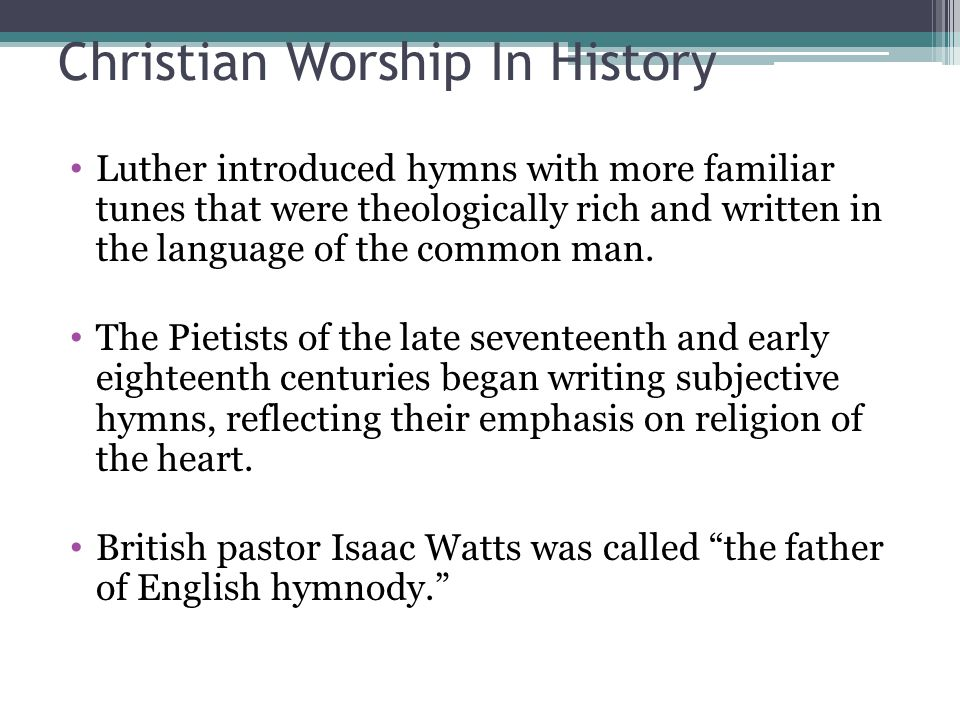 Christian Worship In History