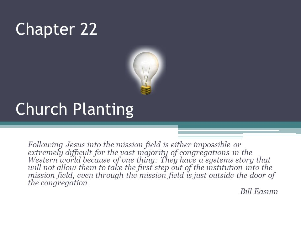Chapter 22 Church Planting