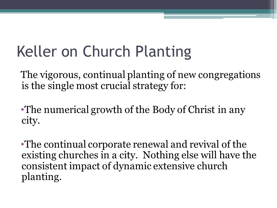 Keller on Church Planting