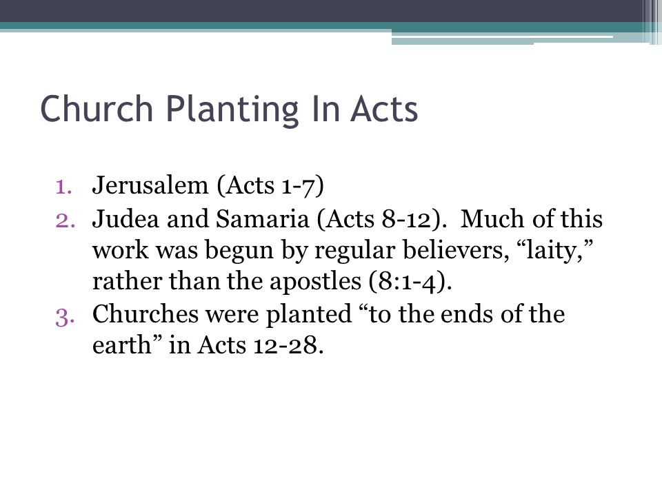 Church Planting In Acts