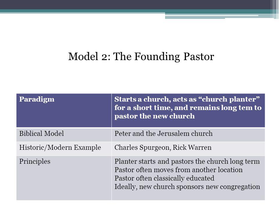 Model 2: The Founding Pastor